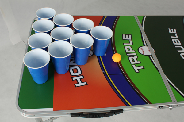 4 Sections (2.4m 8') Folding Rainbow Beer Pong Table