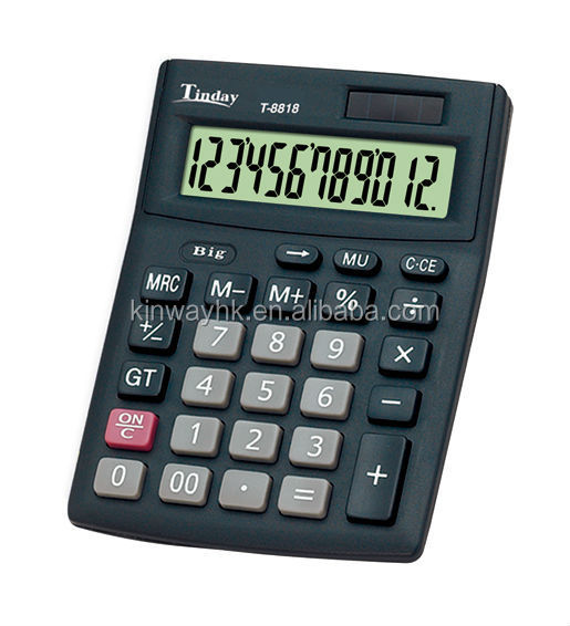 cheapest electronic 8 digit black medium size table calculator
