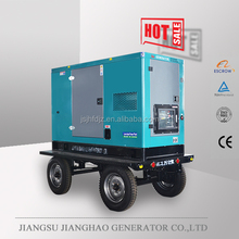 30kva silent portable diesel generator with base fuel tank