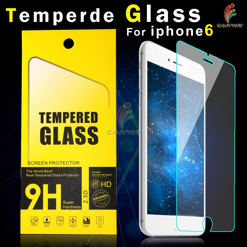 Just 1 Dollor/Piece 0.26mm 99% Transparent 2.5D 9H anti-shock Mobile Phone Tempered Glass Screen guard for iPhone 5 5c 5s