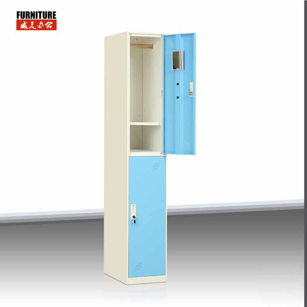 Bedroom furniture steel clothes storage 2 door room lockers