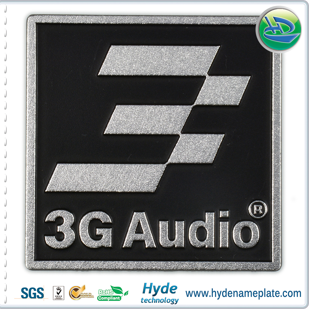 custom metal stereo labels,electrical appliance labels/badge
