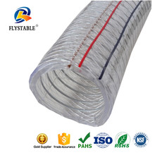 hottest good flexibility PVC spiral steel wire reinforced plastic hose,transparent pvc hose pipe
