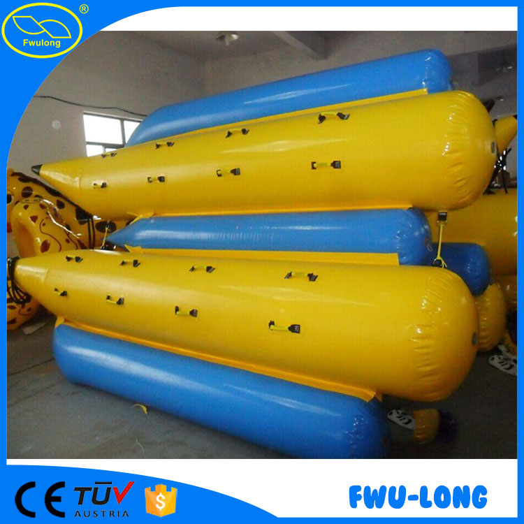 Hot sale original manufacturer customized PVC low price water cheap inflatable banana boat/inflatable flying banana boat