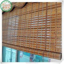 printed bamboo office window curtains