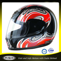 Cool supermen yellow full face funny motorcycle helmet