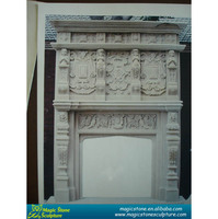 artificial stone fireplace mantel made in China