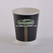 Double wall disposable paper cup with customized logo printed