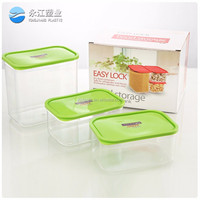 wholesale plastic transparent small box high quality plastic food crisper container set of 6 cheap plastic crisper