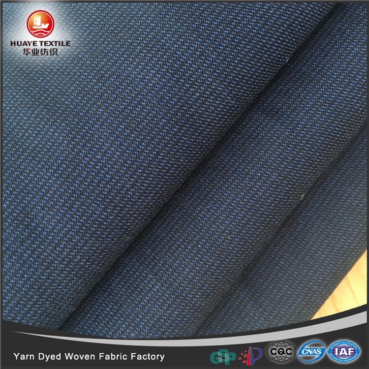 In-stock yarn dyed CVC <strong>poly</strong> cotton woven navy blue fabric for fashion shirt