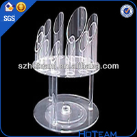 2014 latest clear cheap acrylic cigarette display box tobacco stand
