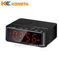 led music mini wireless speaker with alarm clock