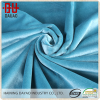 Wholesale cheap blue crushed velvet curtains fabric for sofa