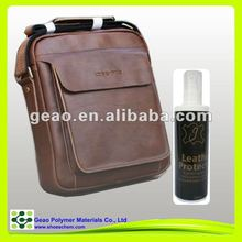 leather bags protector with customized label sticked on pump spray bottle