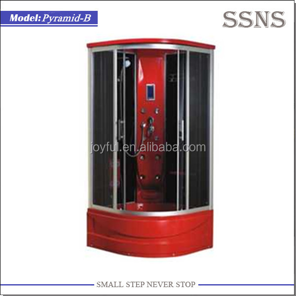Red Personal Steam Cabinet Shower (Pyramid-B)