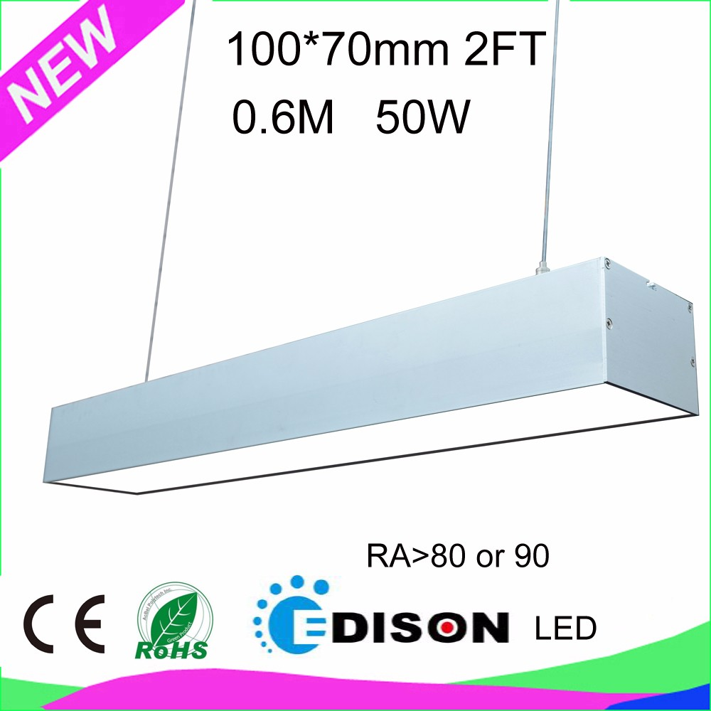 no flicker 140lm/W 5 years warranty 60 degree 90 degree double 30 degree 60W 4FT LED linear light for pendant or track