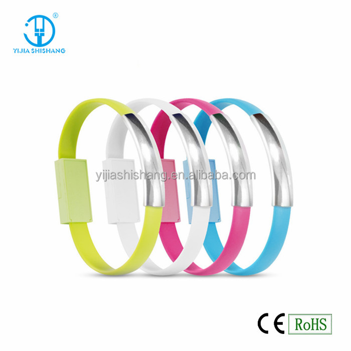 Multi Function Mobile Phone Charger Cable Wristband Bracelet USB Cable Charger