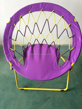 Outdoor Portable Bungee Rope Spring Folding Chair round moon chair