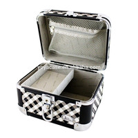 Professional Small Aluminum Cosmetic Train Case for jewelry