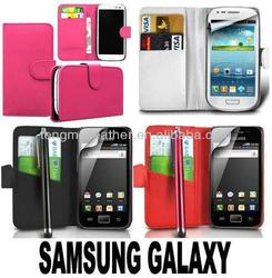 Customzed fancy case for samsung galaxy s3,credit card wallet book case for Samsung side pocket flip cover pouch