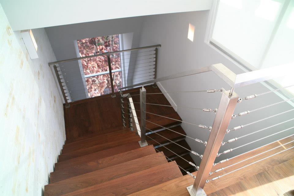Cable de la cuerda de alambre de acero inoxidable y - Barandillas de escaleras ...