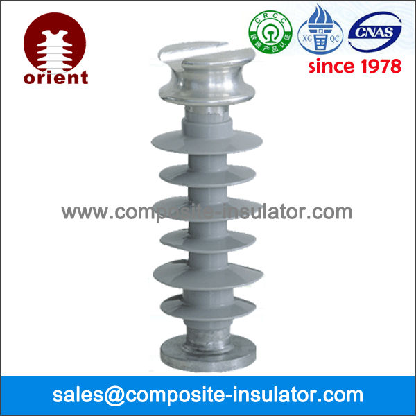 Composite line post insulator electric isolator functions