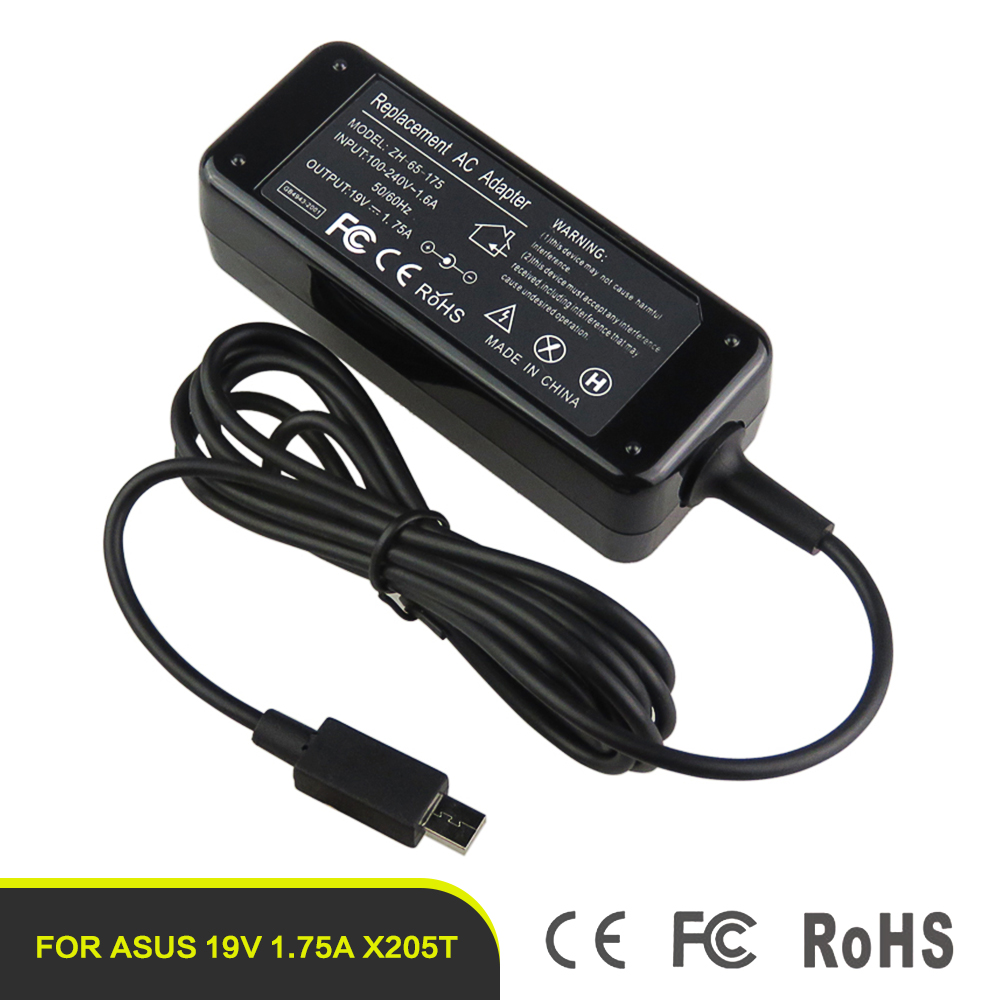 2016 new product universal laptop charger 19v1.75a ac laptop adapter for asus X205T X205TA E202SA Transformer TP200S TP200SA