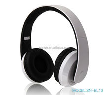 2017 V4.1 high quality retractable foldable rubber coating stereo sound wireless bluetooth headphones