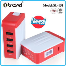 ISO Singapore Malaysia Travel Plug Adapter with 4 USB Ports
