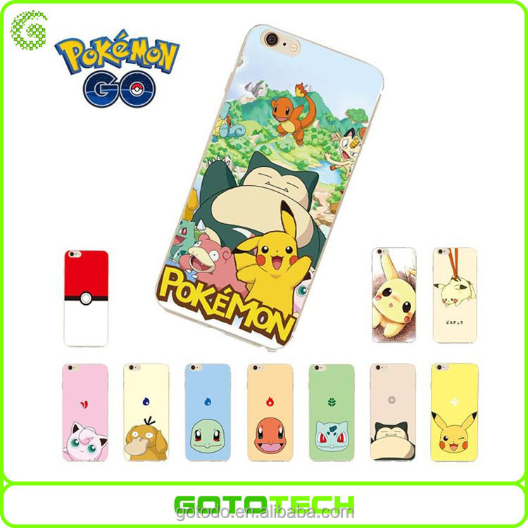 Factory direct wholesale premium TPU cover case pokemon go mobile phone case for iPhone