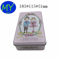 China Factory Decorative Custom Painted Wedding Mint Tin Candy Box