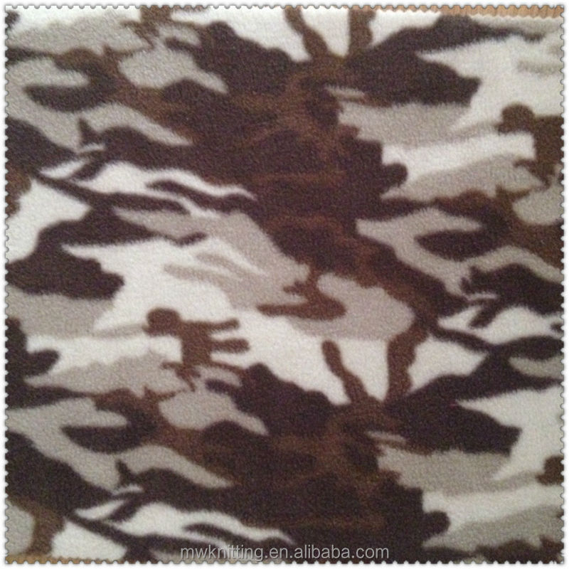 Anti Pilling Camouflage Cheap Micro Polar Fleece Fabric for Military Uniform