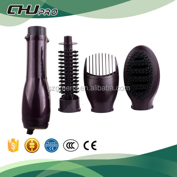 Professional hair curling iron hot air brush ionic styler