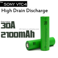 2100mah capacity us18650vtc4 battery VTC4 3.7V li-ion rechargeable battery VTC4 18650 30amp king mod vv 18650 batteries