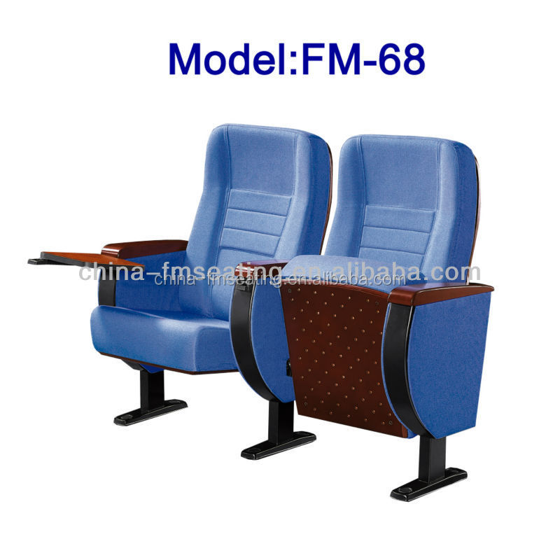 FM-68 College student auditorium chairs with writing tablet