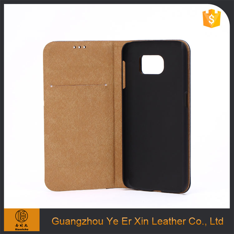 Design your own free sample custom genuine leather cell phone case for samsung galaxy s6 s7 edge