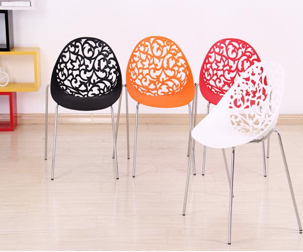 Rohr Beine Weißen Stuhl Designer Plastikstuhl