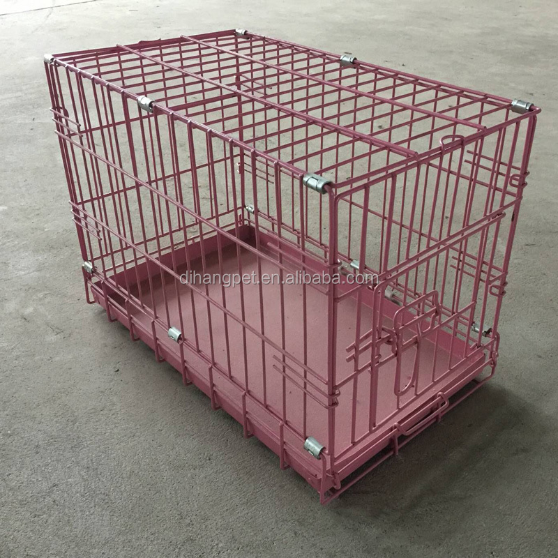 Pink Dog Crate Wholesale ,China Dog Cage ,Fashion Dog Kennel , Cheap