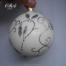 Elegant Glass Christmas Tree Ornaments,Fashion Hand Painted Christmas Beautiful Painting Ball Ornaments