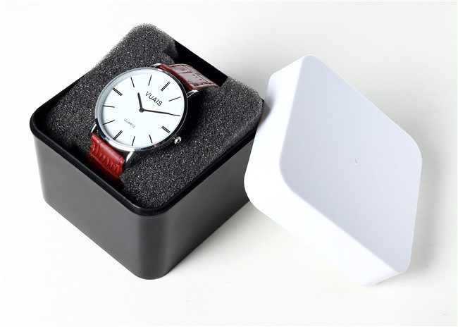 Gifts Creative Square Plastic Table Boxes Customized Black and White High-grade Watch Box Personality