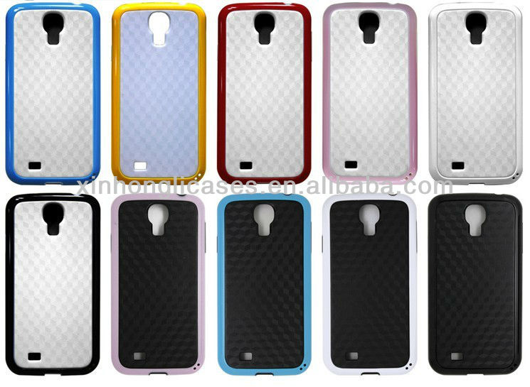 Hybrid Rugged Rubber diamond pc +tpu case for samsung galaxy s4