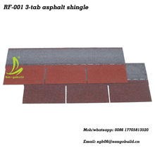 Super Peformance Blue 3-tab Single Layer Asphalt Roofing Shingle From Manufacture
