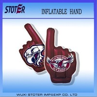 eagle printing inflatable hand,cheer hand with eagle printing,purple cheer hand