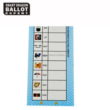 Election Campaign 70g C2S Ballot Papers and Voter Cards for Nigeria