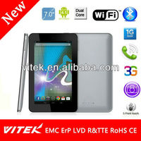 New Dual Core Android Phone Calling 7inch cheap tablet pc