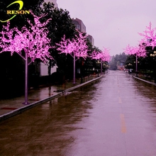 Artificial cherry blossom tree, led cherry blossom tree light, plastic cherry blossom tree