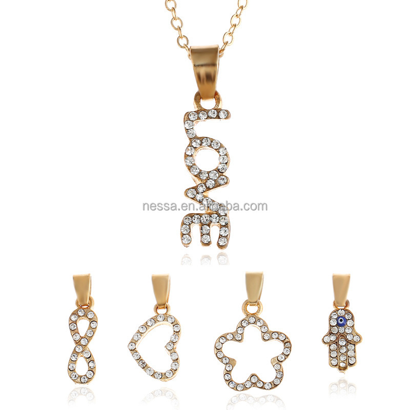 Fashion Gold Love Necklace Wholesale NSNZ-0088