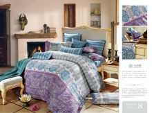 100% egyption cotton 500tc bedding sets, elegant flower designs printed bed sheet sets