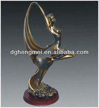 bronze finish dancers sculpture