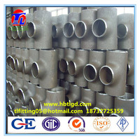 forged socket weld carbon steel pipe fittings tee seamless equal tee reducing tee from China supplier